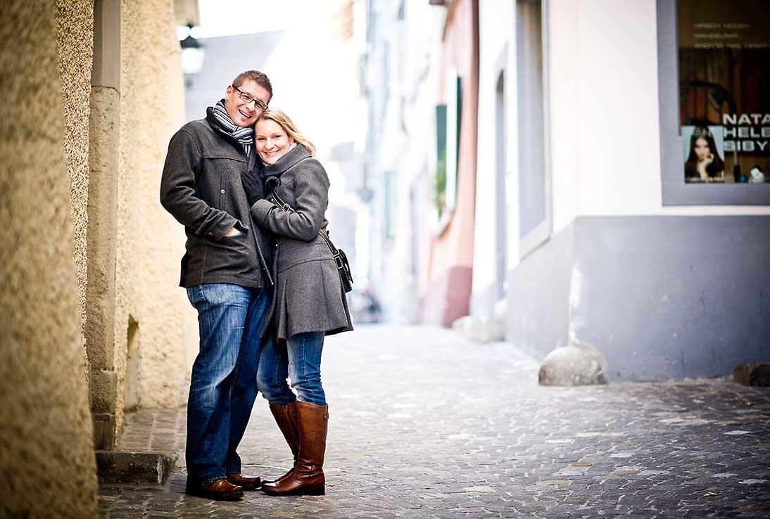 Engagement Fotoshooting in Baden, Aargau