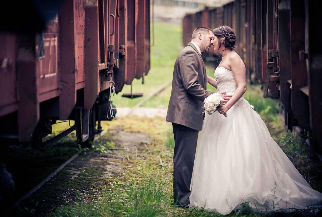 Fotoshooting Güterwagen