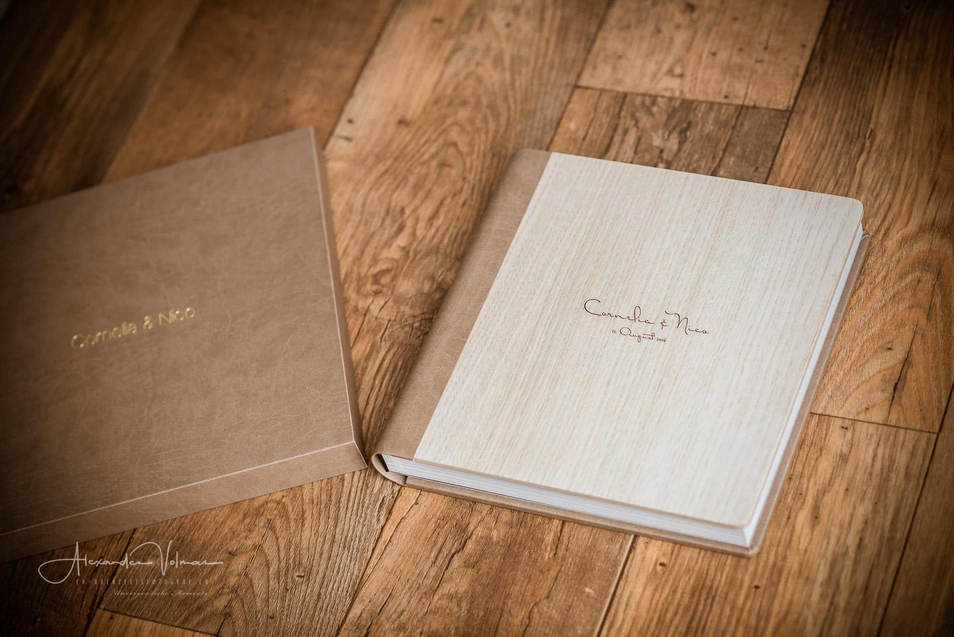 Hochzeitsalbum mit Schachtel