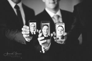 Selfies mit den Trauzeugen