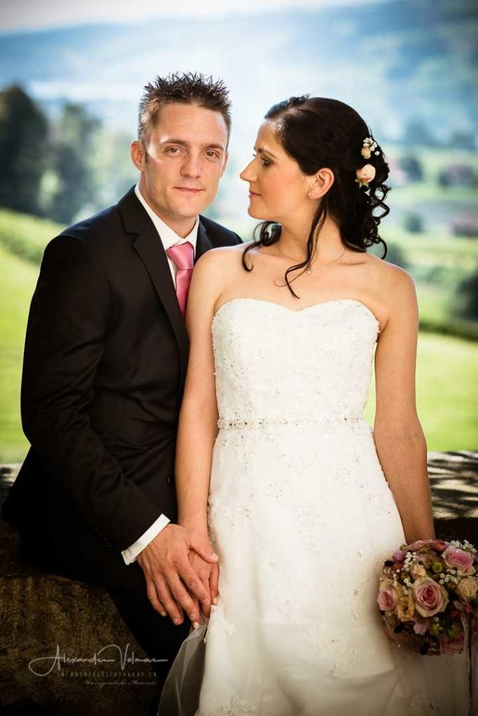 Fotoshooting Brautpaar Schloss Heidegg