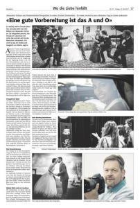 Zeitungsbericht Hochzeitsfotograf