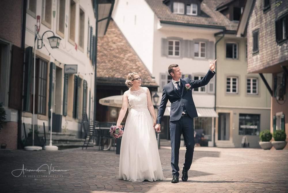 Fotoshooting in der Altstadt von Olten