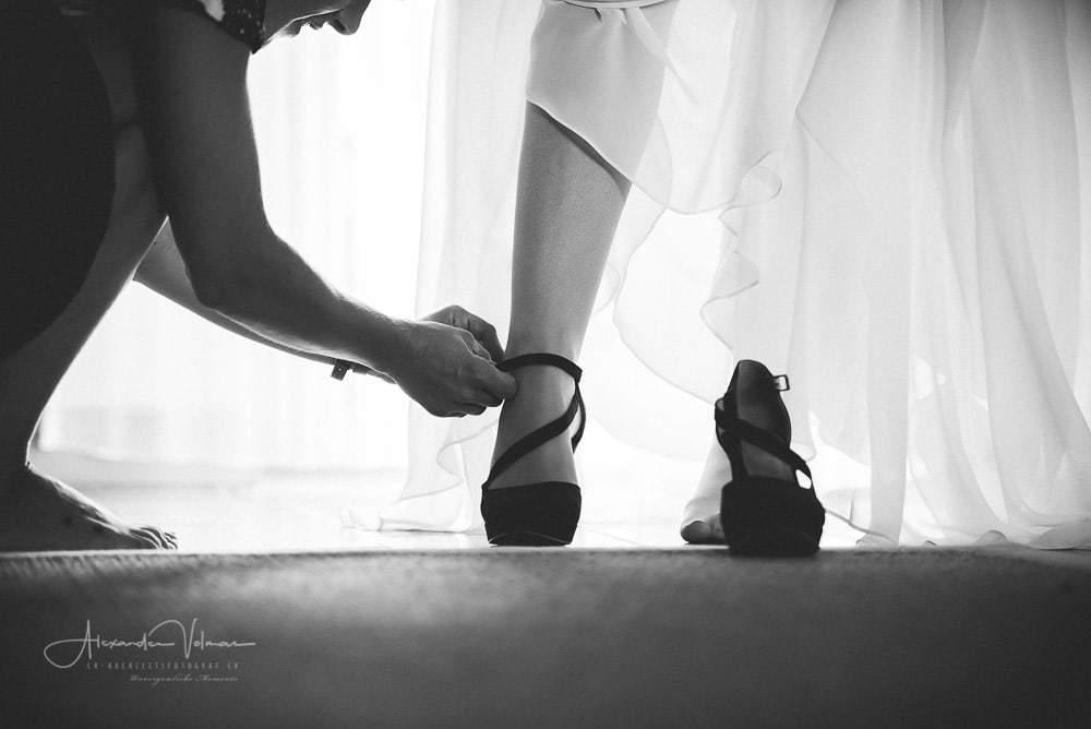 Schuhe anziehen in Schönenwerd